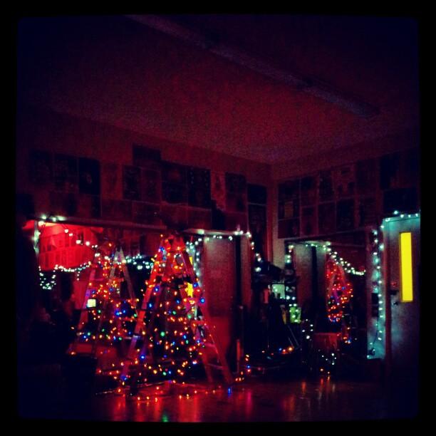 Christmas lights at last year's xmas party. Photo (c) Katje van Loon.