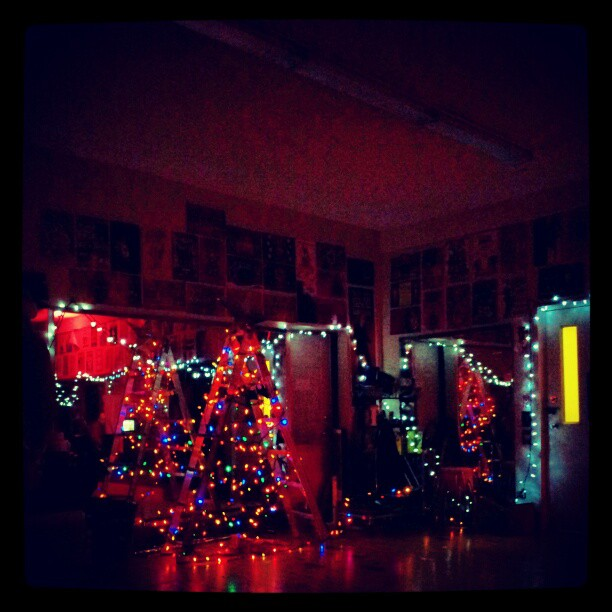 Christmas lights at last year's xmas party. Photo (c) Katje van Loon.